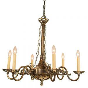 Empire Solid Brass 6 Light Pendant