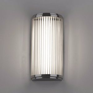 Versailles IP44 Polished Chrome 25cm Bathroom Wall Light with Shade