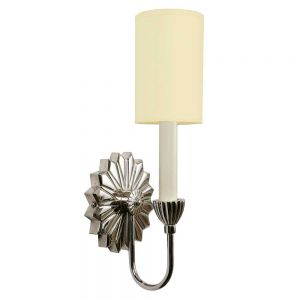 E'toile Nickel Plated Solid Brass 1 Light Wall Light