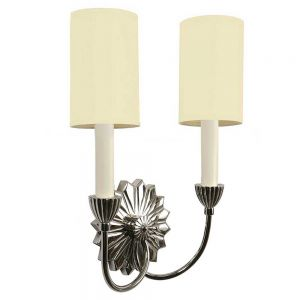 E'toile Nickel Plated Solid Brass 2 Light Wall Light