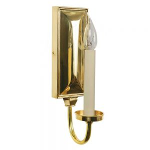 Georgian Solid Brass 1 Light Wall Light