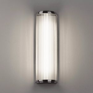 Versailles IP44 Polished Chrome 40cm Bathroom Wall Light with Shade