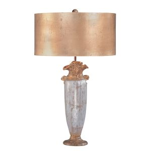 Flambeau FB/BIENVILLE/TL 1 Light Silver Gold and Brown Table Lamp
