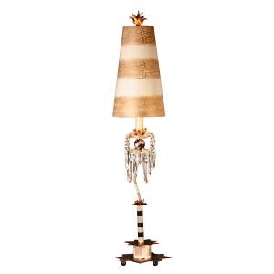 Flambeau FB/BIRDLAND/TL 1 Light Black White and Crystal Table Lamp