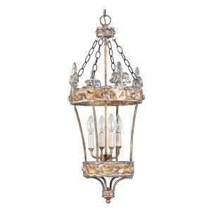 Flambeau FB/CROWN/P 4 Light Gold and Silver Ceiling Lantern