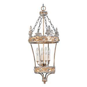 Flambeau FB/CROWN/P 4 Light Gold and Silver Ceiling Lantern