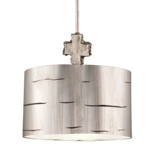 Flambeau 1 Light Aged Silver Large Ceiling Pendant