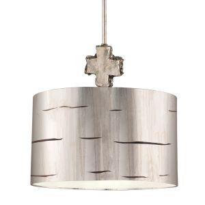 Flambeau 1 Light Aged Silver Large Ceiling Pendant
