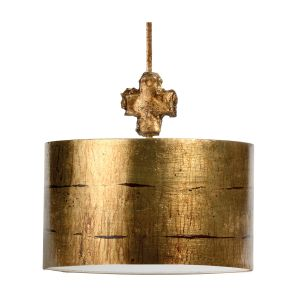 Flambeau 1 Light Aged Gold Large Ceiling Pendant
