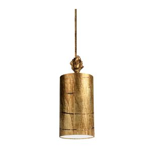 Flambeau 1 Light Aged Gold Small Ceiling Pendant