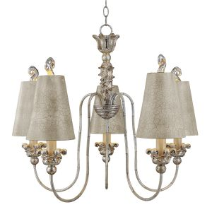 Flambeau FB/REMI5 5 Light Silver and Gold Chandelier