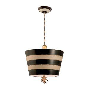Flambeau 1 Light Black and White Ceiling Pendant