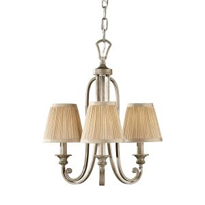 Abbey 3 Light Silver Sand Finish Mini Chandelier