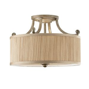 Abbey Semi Flush Silver Sand Ceiling Light