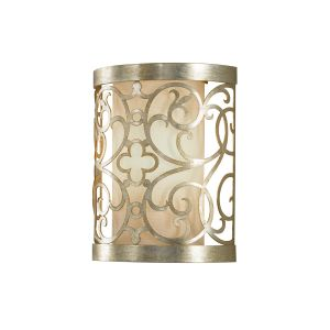 1 Light Silver Leaf Patina Wall Sconce