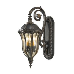 FE/BATONRG/M Outdoor 3 Light Die Cast Aluminium Wall Lantern