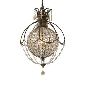 Bellini 3 Light Bronze & Crystal Chandelier