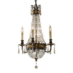 Bellini 4 Light Bronze & Crystal Chandelier