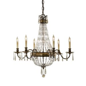 Bellini 6 Light Bronze & Crystal Chandelier
