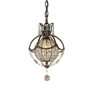 Bellini 3 Light Bronze/Crystal Mini Chandelier