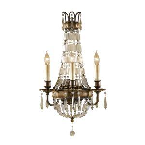 Bellini 3 Light Bronze & Crystal Wall Light