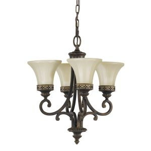 Drawing Room Duo-Mount Walnut Chandelier