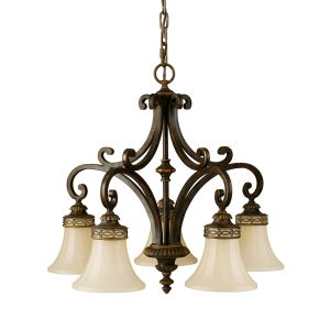 Drawing Room 5 Light Walnut Chandelier