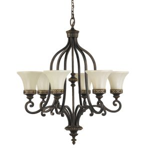 Drawing Room 6 Light Walnut Chandelier