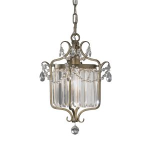 Gianna 1 Light Gilded Silver Duo Mount Pendant
