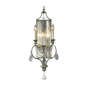 Gianna 3 Light Gilded Silver Wall Light