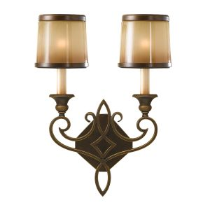Justine 2 Light Astral Bronze Wall Light