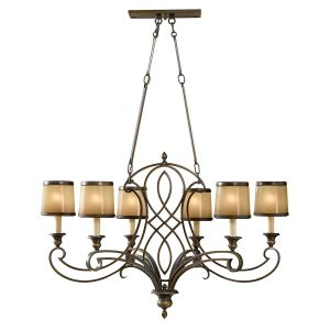 Justine 6 Light Astral Bronze Island Chandelier