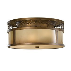 Justine 3 Lt Flush Astral Bronze Ceiling Light