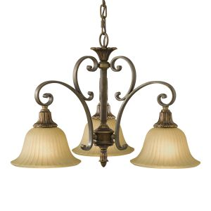 Kelham 3 Light Firenze Bronze Chandelier