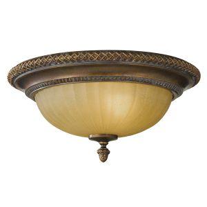 Kelham 2 Light Bronze Flush Ceiling Light