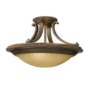 Kelham 2 Light Bronze Semi Flush Light