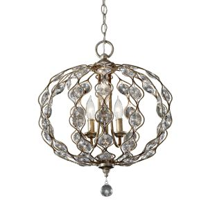 Leila 3 Light Burnished Silver Ceiling Pendant