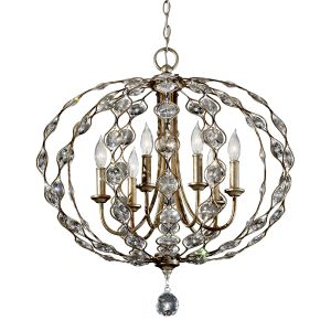 Leila 6 Light Burnished Silver Ceiling Pendant