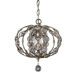 Leila Burnished Silver Mini Ceiling Pendant