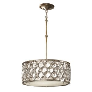 Lucia 3 Light Burnished Silver Ceiling Pendant