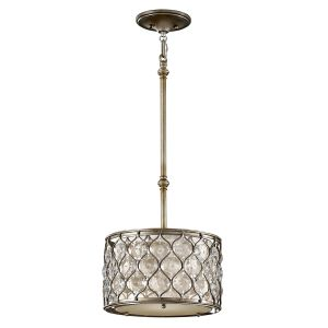 Lucia 1 Light Burnished Silver Ceiling Pendant