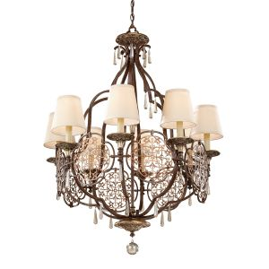 Marcella 8 Light British Bronze Chandelier