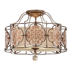 Marcella 3 Light S/Flush Bronze Ceiling Light