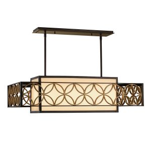 Remy 4 Light Adj Heritage Bronze Chandelier