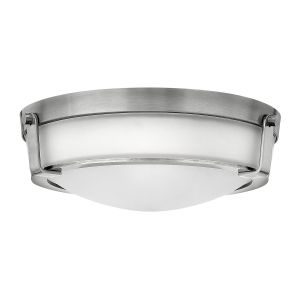 Hathaway 3 Light Flush Ceiling Mount Light In Antique Nickel