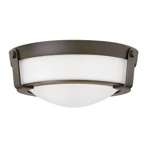 Hathaway 2 Light Small Flush Mount Ceiling Light In Olde Bronze