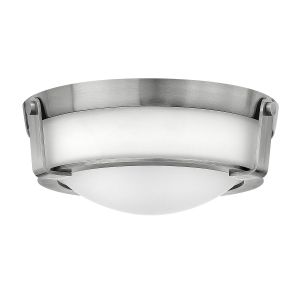 Hathaway 2 Light Small Flush Mount Ceiling Light In Antique Nickel