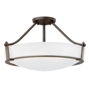 Hathaway 4 Light Medium Semi Flush Ceiling Light In Olde Bronze