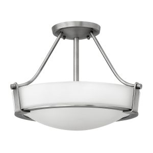Hathaway 4 Light Medium Semi Flush Ceiling Light In Antique Nickel