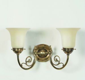 Bayswater Solid Brass 2 Light Wall Light